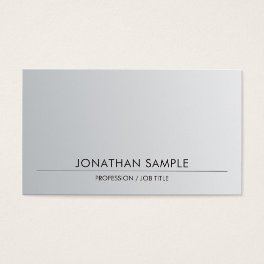 Silver Look Sophisticated Sleek Design Trendy Business Card