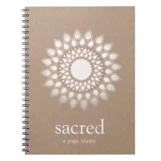 Silver Lotus Mandala Yoga and Meditation Teacher Notebook