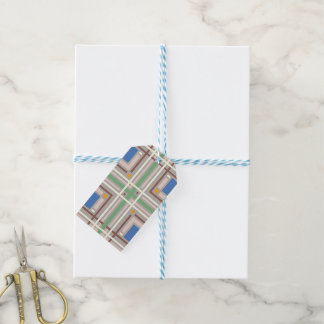 Silver Mad Plaid Gift Tags