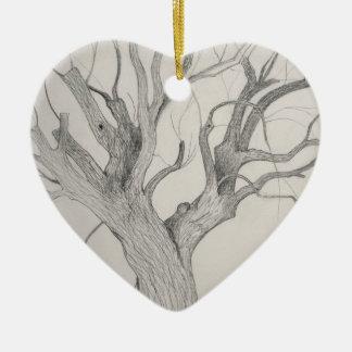 Silver Maple Ceramic Ornament