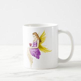 Silver Maple Tree Fairy Holding Flower Coffee Mug