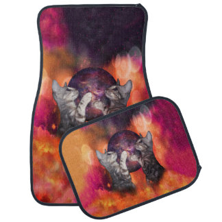 Silver Marble Oracle Kitty Cats of the Kittyverse Car Mat