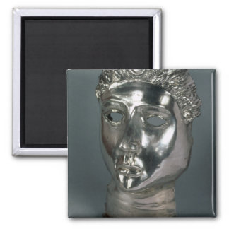 Silver mask, Roman, 1st half of 3rd century AD (si Square Magnet
