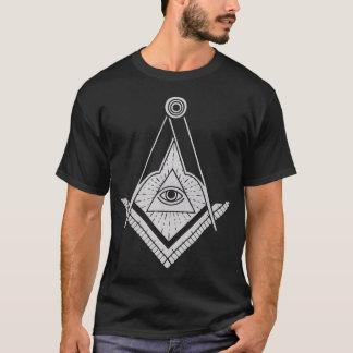 Silver Masonic Symbol eye Men T-Shirt