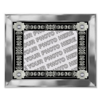 Silver Mat Photo Frame. Poster