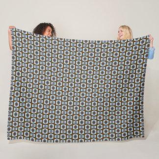 Silver Mayan Cobblestone Pattern Fleece Blanket