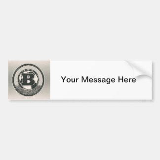 Silver Medal Soccer Monogram Letter B Bumper Sticker