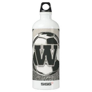 Silver Medal Soccer Monogram Letter W SIGG Traveller 1.0L Water Bottle