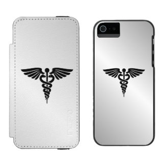 Silver Medical Caduceus Incipio Watson™ iPhone 5 Wallet Case
