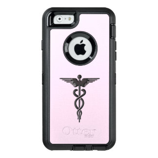 Silver Medical Caduceus OtterBox Defender iPhone Case