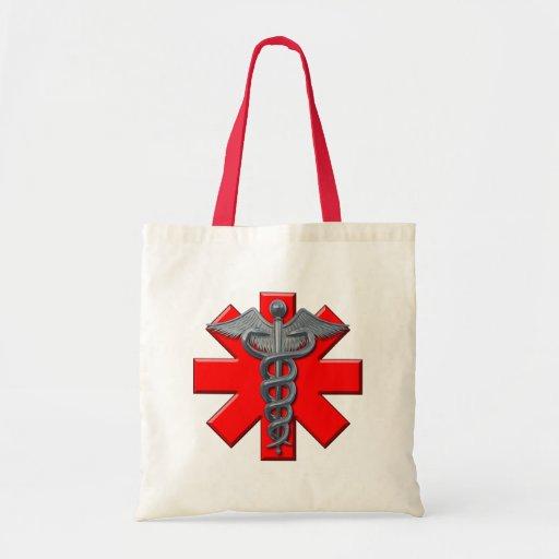 Silver Medical Profession Symbol Tote Bags