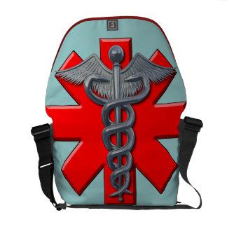 Silver Medical Profession Symbol Messenger Bags