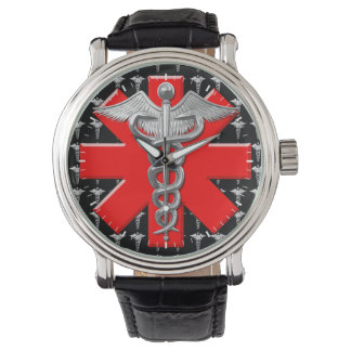 Silver Medical Profession Symbol Watches