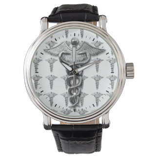 Silver Medical Profession Symbol Wristwatches