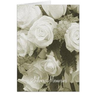 Silver Memories Sepia Anniversary Card