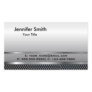 Silver Metal Elegant Template Pack Of Standard Business Cards