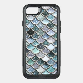 Silver Metal Foil Glitter Mermaidscales Scales OtterBox Commuter iPhone 8/7 Case