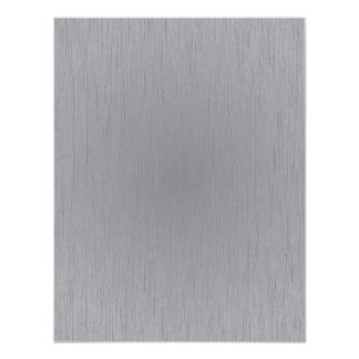Silver Metal Look 11 Cm X 14 Cm Invitation Card