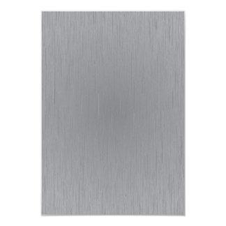 "Silver Metal Look 3.5"" X 5"" Invitation Card"