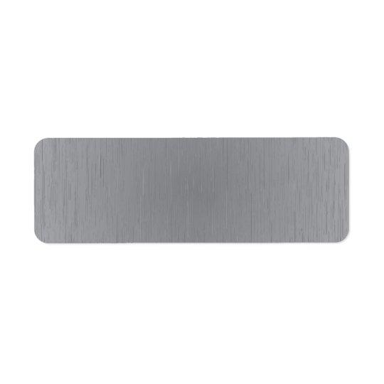 Silver Metal Look Return Address Label
