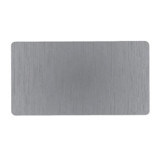 Silver Metal Look Shipping Label