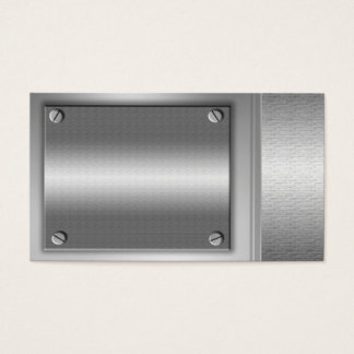 Silver Metal Plates Business Cards