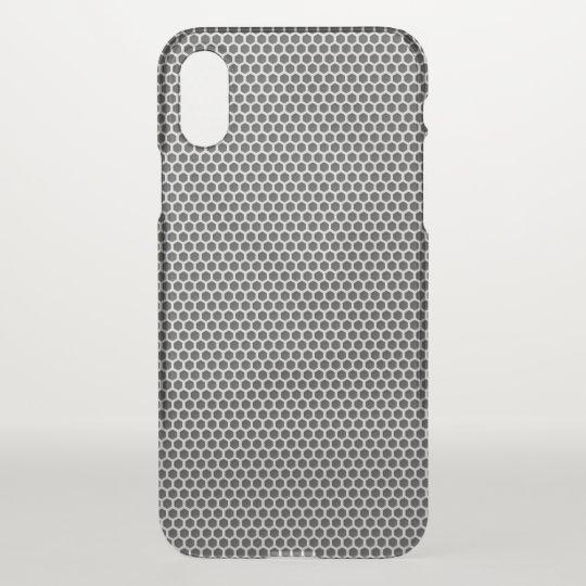 Silver Metal Screen Pattern iPhone X Case