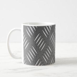 Silver Metal Texture Coffee Mug