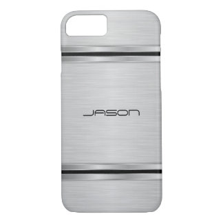 Silver Metallic Design iPhone 8/7 Case