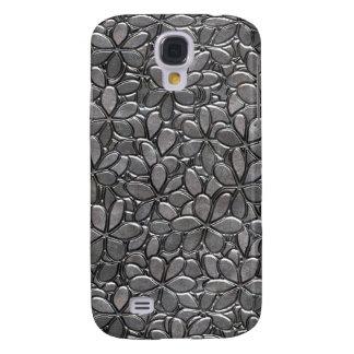 Silver metallic floral pattern case