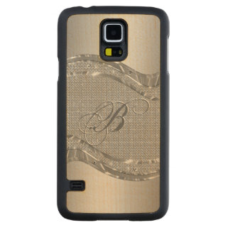 Silver Metallic Look With Diamonds Pattern 2 Carved Maple Galaxy S5 Case