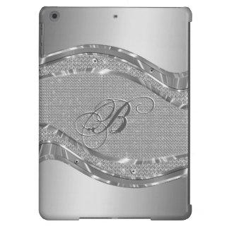 Silver Metallic Look With Diamonds Pattern iPad Air Case
