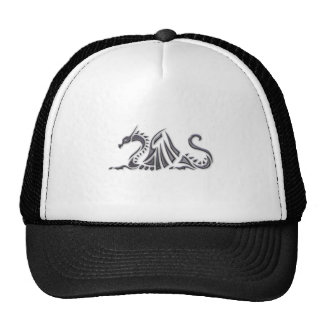 Silver Metallic Sea Dragon Cap