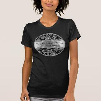 Silver Metallic Vintage Damasks 3 T-shirt