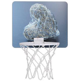 Silver Metallic Wire Heart Mini Basketball Hoop