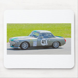 Silver MG racing car Mouse Pad
