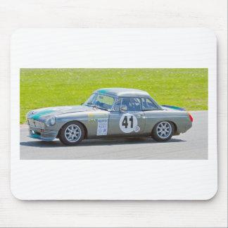 Silver MG racing car Mouse Pad