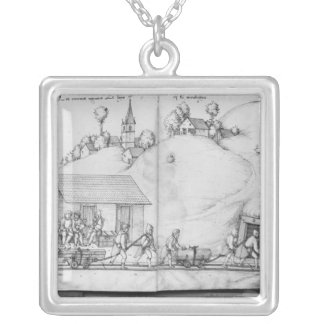 Silver mine of La Croix-aux-Mines, Lorraine 2 Silver Plated Necklace