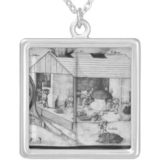 Silver mine of La Croix-aux-Mines, Lorraine 3 Silver Plated Necklace