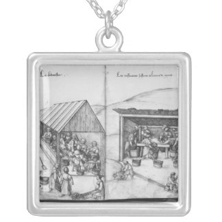 Silver mine of La Croix-aux-Mines, Lorraine Silver Plated Necklace