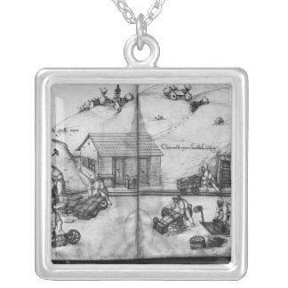 Silver mine of La Croix-aux-Mines Silver Plated Necklace