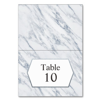 Silver Modern | Marble Table Place Card