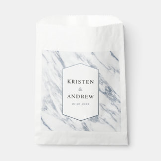 Silver Modern | Marble Wedding Favour Bag