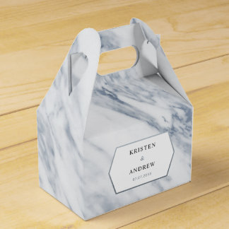 Silver Modern | Marble Wedding Favour Box