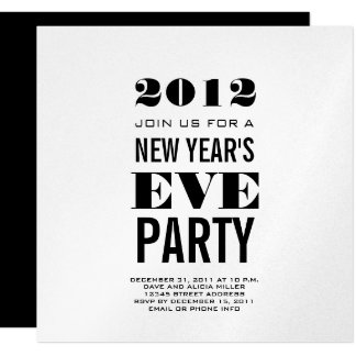 Silver Modern New Year's Eve Party Invite