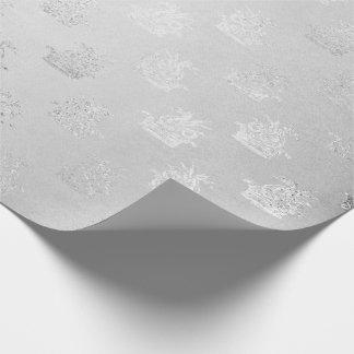 Silver Monochromatic Fairy Gray Fantasy Dragon Sea Wrapping Paper