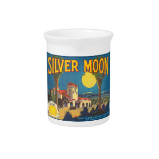 Silver Moon Fruit Crate Label Drink Pitchers
