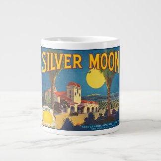 Silver Moon Fruit Crate Label Jumbo Mug