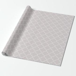 Silver Moroccan Lattice Pattern Gift Wrap
