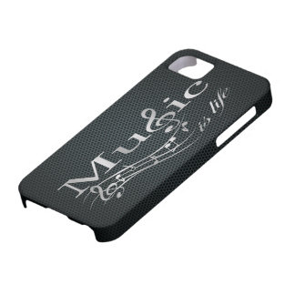 Silver Music is Life with Metal Mesh Case For The iPhone 5